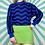 Thumbnail: Blue Pattern Funky Knit