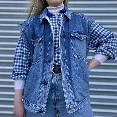 Vintage Sleeveless Denim Jacket