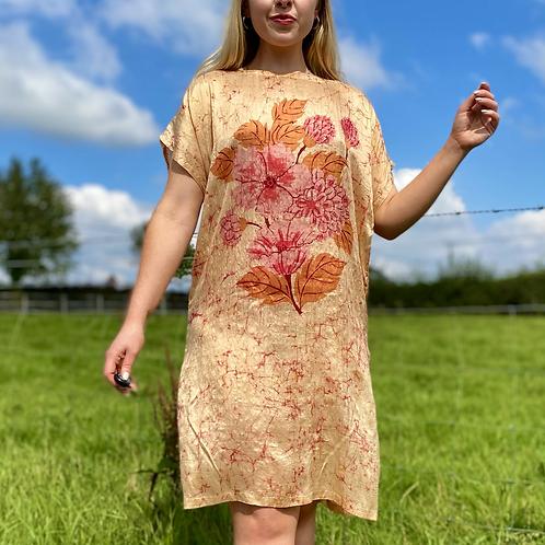 100% Silk Shift Dress