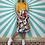 Thumbnail: White Floral Midi Skirt