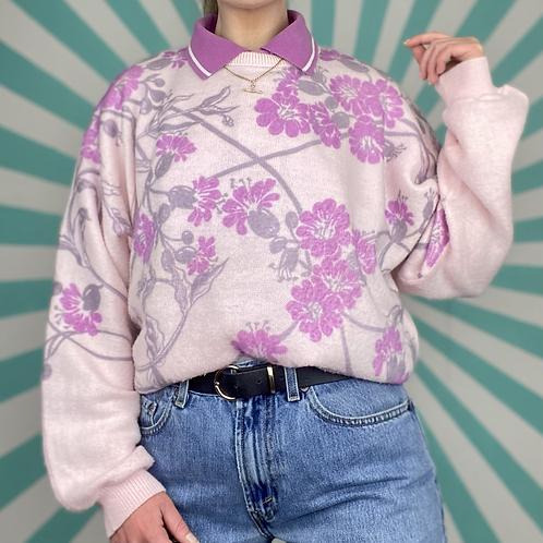 Pink Floral Summer Knit
