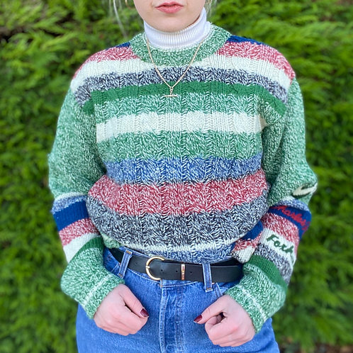 Retro Striped Knitted Jumper