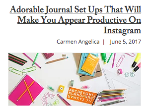 Plep Article: Adorable Journal Set Ups That Will Make Your Appear Productive On Instagram