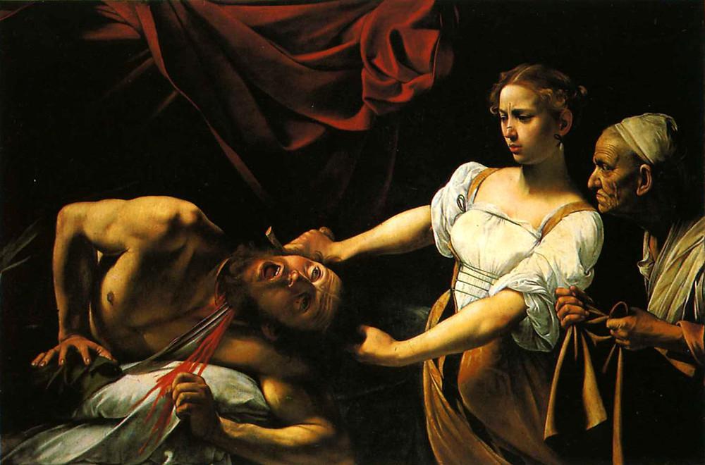 Le CARAVAGE, Judith et Holopherne, 1598. Huile sur toile. Rome, Galerie national d'art ancien