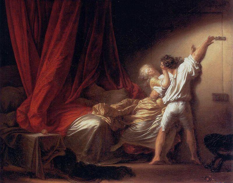 Jean-Honoré FRAGONARD, Le Verrou, 1776-79. Huile sur toile, 71x92 cm. Paris, Musée du Louvre