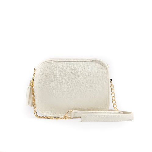 Solid Box w/Tassel ~ Pearl Pebbled