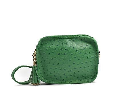 Sightseer Solid Box w/Tassel ~ Green Ostrich