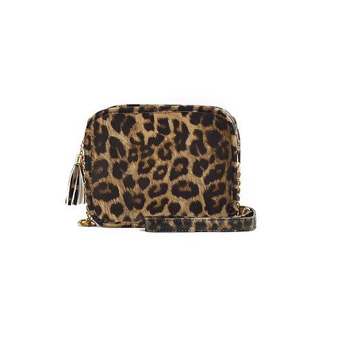 WHOLESALE Sightseer Solid Box w/Tassel ~Leopard