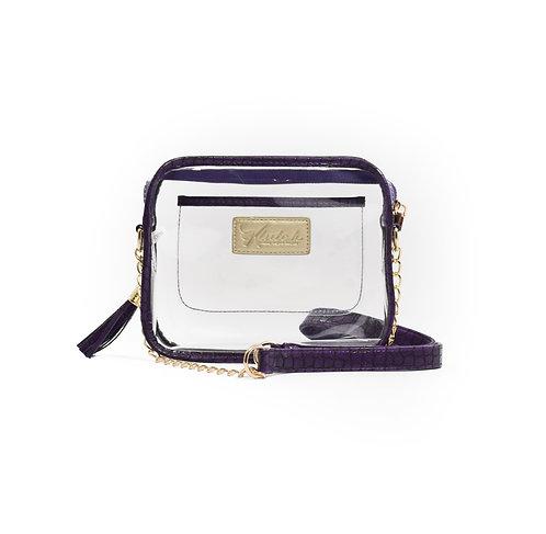 WHOLESALE 'K'lear Box with Tassel Stadium Klutch ~ Purple