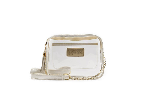 WHOLESALE 'K'lear Box with Tassel Stadium Klutch ~Pearl White