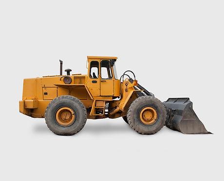 yellow excavator