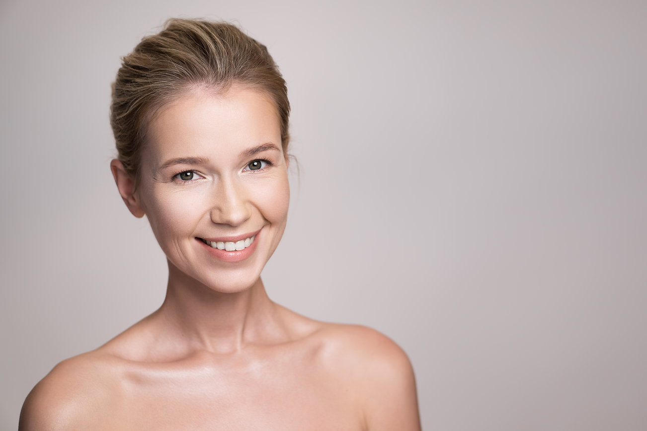 Beauty portrait of attractive middle age