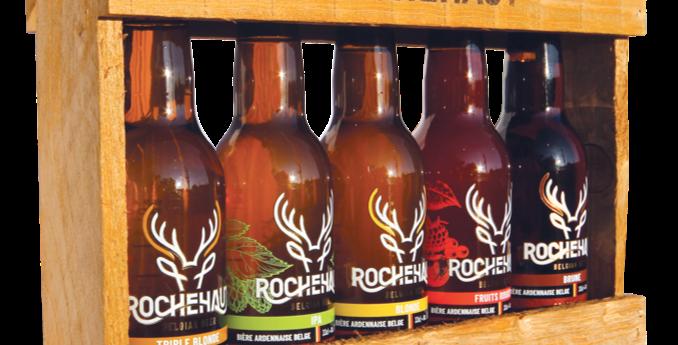 Coffret bois 5 bières de Rochehaut 33 CL