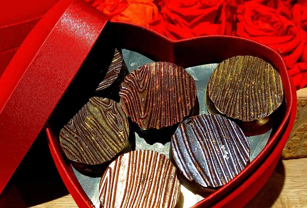 Ballotin 12 pralines Saint-Valentin