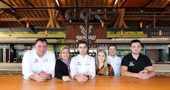La famille Boreux à la Brasserie de Rochehaut