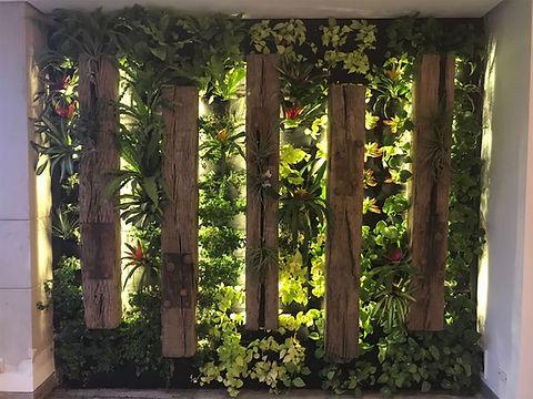 Jardín vertical verde