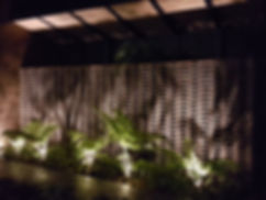 jardín iluminación exterior