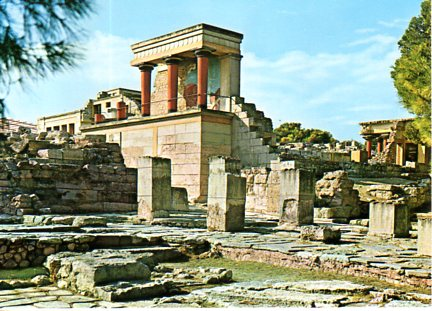 THE PALACE OF KNOSSOS 498 12x17