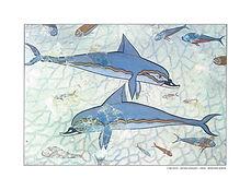 εκδόσεις αρχαιολογικοί οδηγοί Μουσείον Ηρακλείου Η τοιχογραφία των δελφινιών 1600 π.Χ