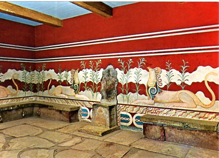 THE PALACE OF KNOSSOS  494 12x17
