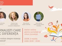 Atelier online: Jurnaliști care fac diferența: cum vorbim despre violența domestică?