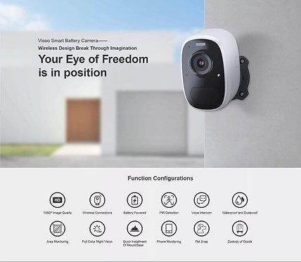 Smart WIFI battery camera indoor and outdoor