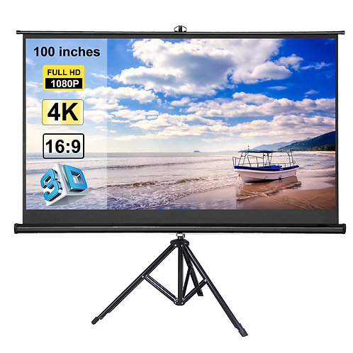 100 inch 16:9 Portable outdoor projector Screen with stand