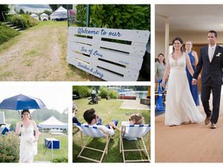 Regen an der Hochzeit lässt Glück verheißen - Sonnencreme meets Regenschirm