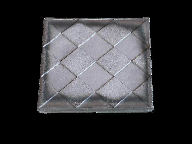 瓦コースター/正方形・斜め市松