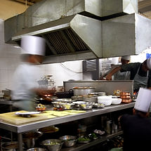 Chef in a busy kitchen