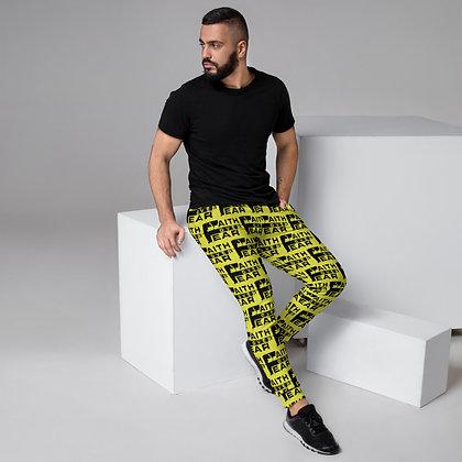 Faith Over Fear Black/Neon Yellow Men's Joggers