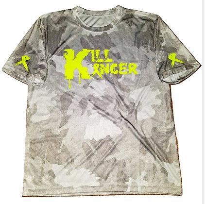 Men's White/Neon Yellow Kill All Kancer Jersey