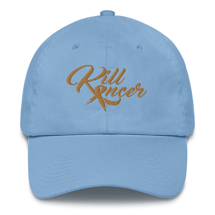 Women's Kill Childhood Kancer Carolina Blue/Old Gold Made in America Dad Hat