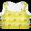 Thumbnail: Women's Neon Yellow/White Hustle Hard Padded Sports Bra