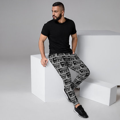 Faith Over Fear Black/Grey Men's Joggers