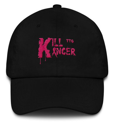 Kill Breast Black/Flamingo Pink Kancer Dad Hat