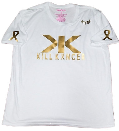 Unisex White/Old Gold Kill Childhood Kancer Train-Dry Jersey