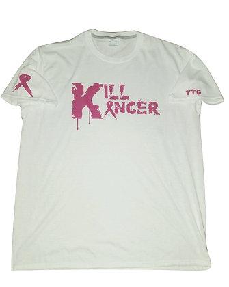 Men's White/Hot Pink Kill Breast Kancer Train-Dry Crew Neck Tshirt