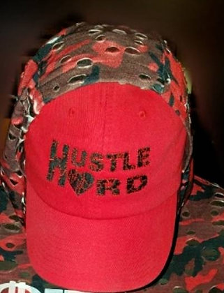 Red/Black Hustle Hard Dad Hat