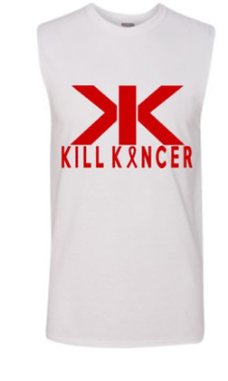 Men's White/Red Kill Blood Kancer Premium Tank Top Jersey