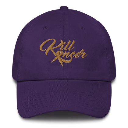 Women's Kill Childhood Kancer Purple/Old Gold Made in America Dad Hat