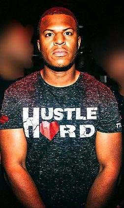 Men's Hustle Hard Black/White Blizzard Crew Neck