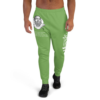 Unisex Hussle Hard Green Apple/White Joggers