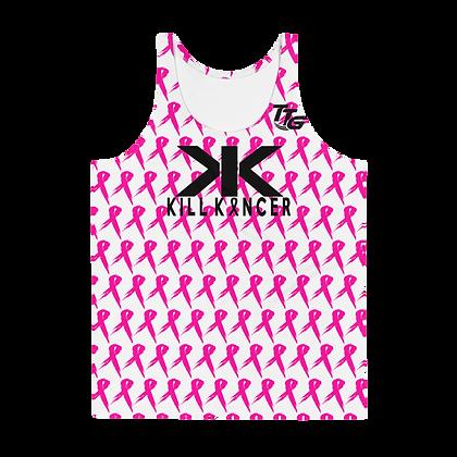 Unisex Kill Breast Kancer Royal White/Neon Pink Premier Tank Top