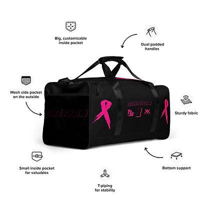 Kill Breast Kancer Black/Pink Custom Duffle Bag