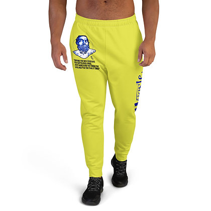 Unisex Hussle Hard Neon Yellow/Royal Blue Joggers