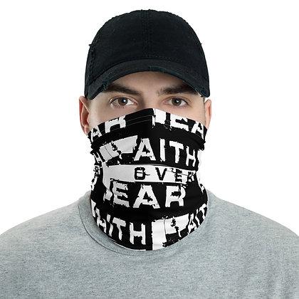 Men's Black/White Faith Over Fear Neck Gaiter