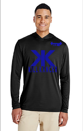 Unisex Black/Royal Blue Kill Colon Cancer Hooded Jersey