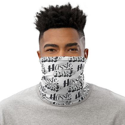 Unisex White/Black Hussle Hard Neck Gaiter
