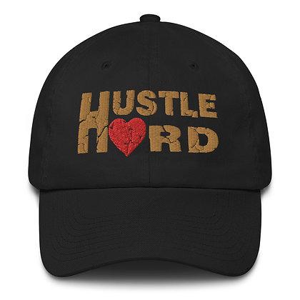 Hustle Hard Black/Old Gold Made in America Dad Hat